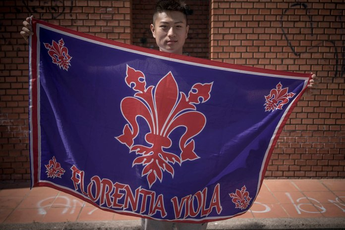 Marco and his team's flag